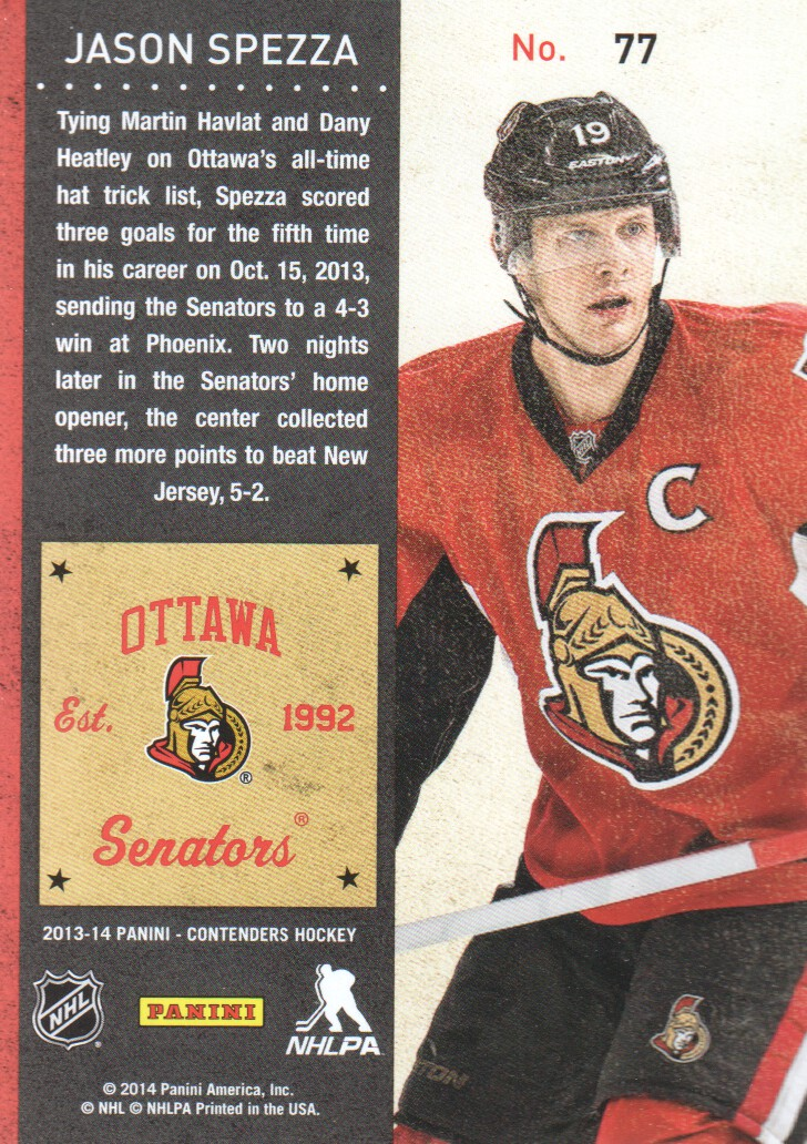 2013-14-Panini-Contenders-Hockey-Cards-Pick-From-List thumbnail 155
