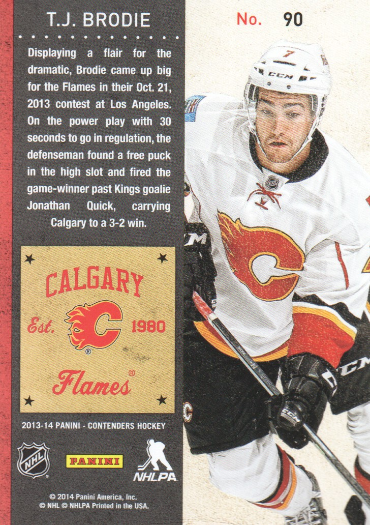 2013-14-Panini-Contenders-Hockey-Cards-Pick-From-List thumbnail 181