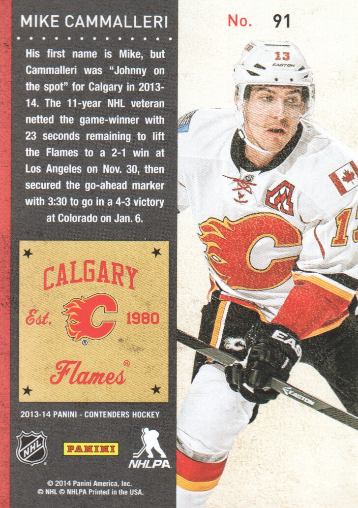 2013-14-Panini-Contenders-Hockey-Cards-Pick-From-List thumbnail 183