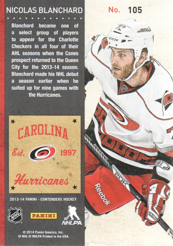 2013-14-Panini-Contenders-Hockey-Cards-Pick-From-List thumbnail 203