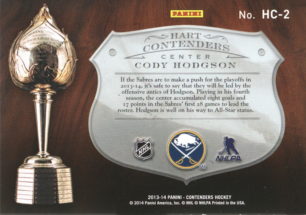 2013-14-Panini-Contenders-Insert-Hockey-Cards-Pick-From-List thumbnail 9