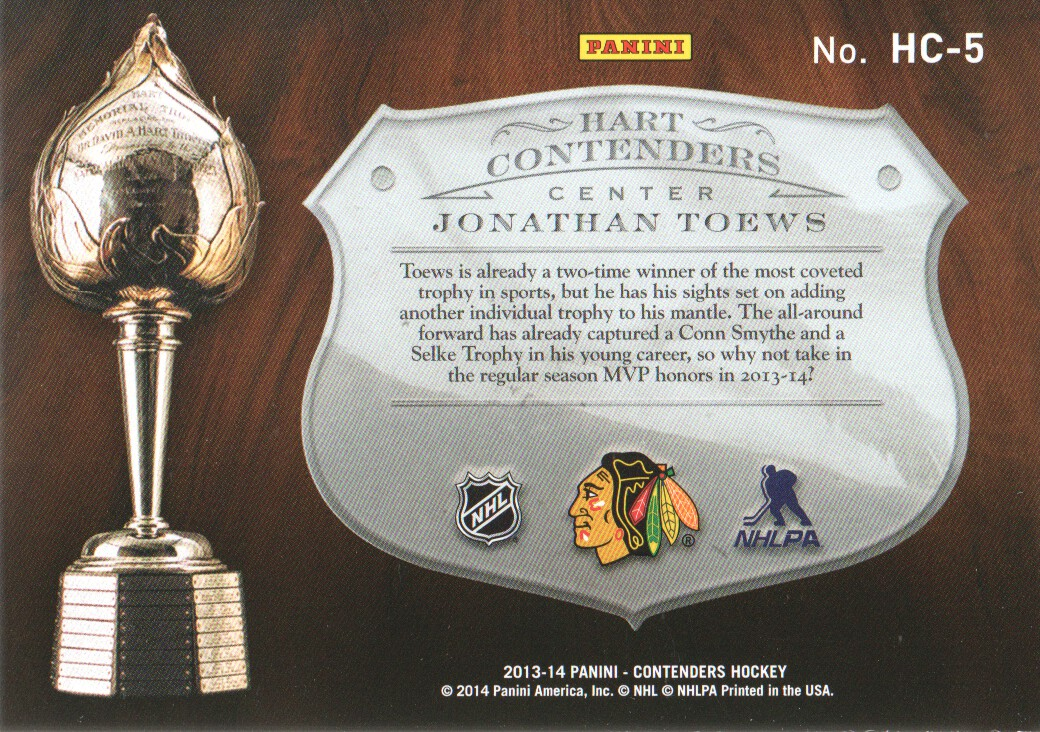 2013-14-Panini-Contenders-Insert-Hockey-Cards-Pick-From-List thumbnail 13