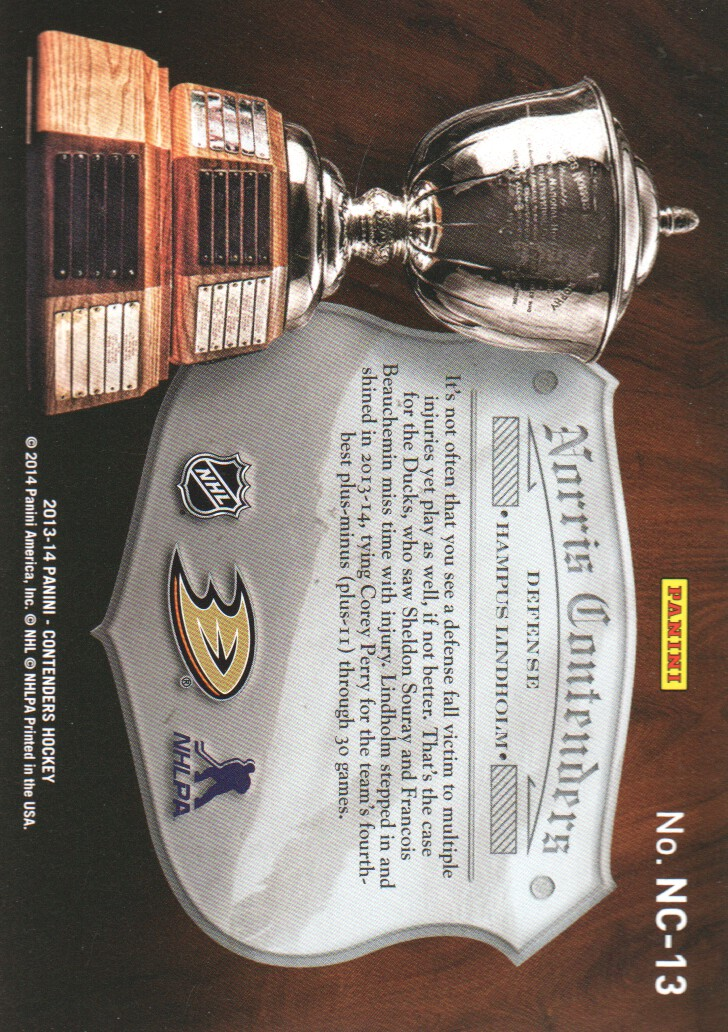 2013-14-Panini-Contenders-Insert-Hockey-Cards-Pick-From-List thumbnail 39