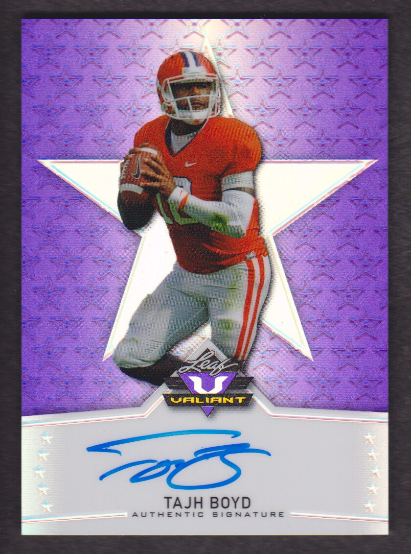 2014 Leaf Valiant Draft Purple #BATB1 Tajh Boyd