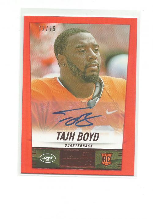 2014 Panini Hot Rookies Rookie Signatures Red #424 Tajh Boyd/75