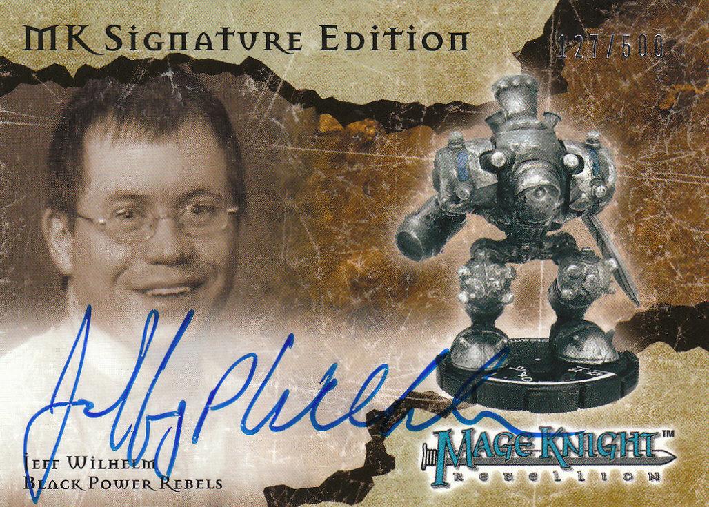 2001 Mage Knight Signatures #SE5 Jeff Wilhelm