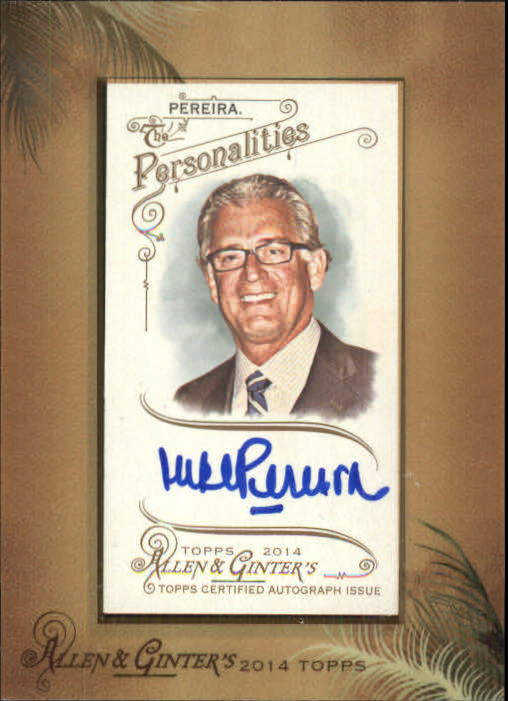 2014 Topps Allen and Ginter Framed Mini Autographs #AGAMPE Mike Pereira
