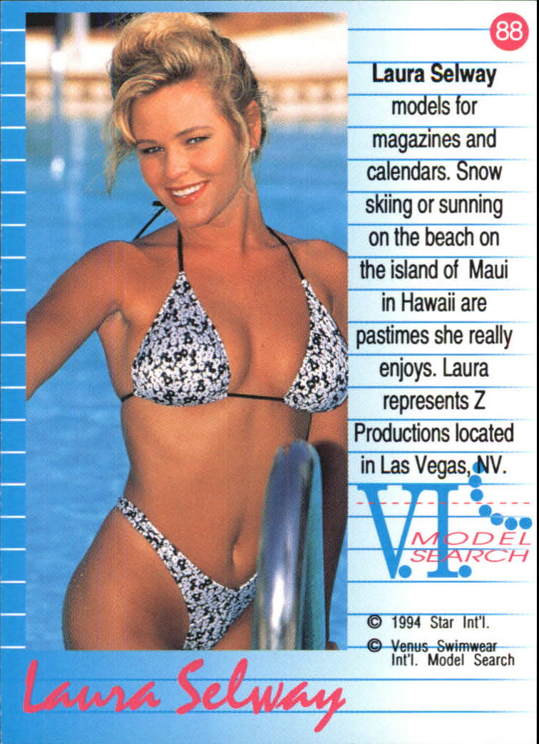 6615d0e64e5f5 ... 1994 VI Talent Search Venus Swimwear  88 Laura Selway back image