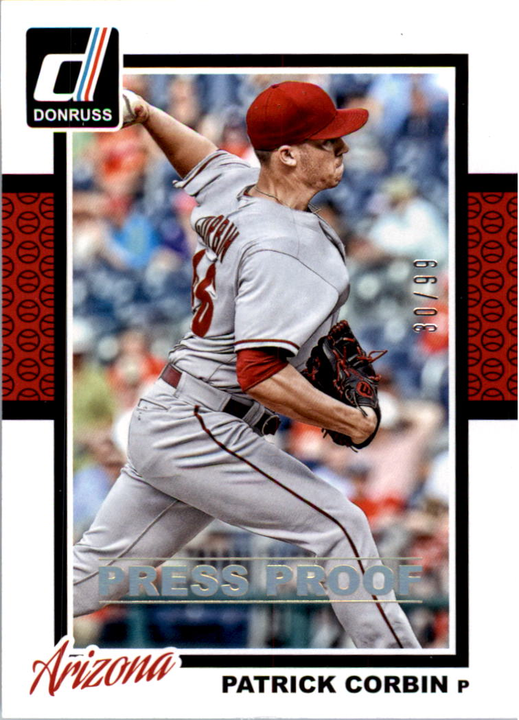2014 Donruss Press Proofs Gold #259 Patrick Corbin