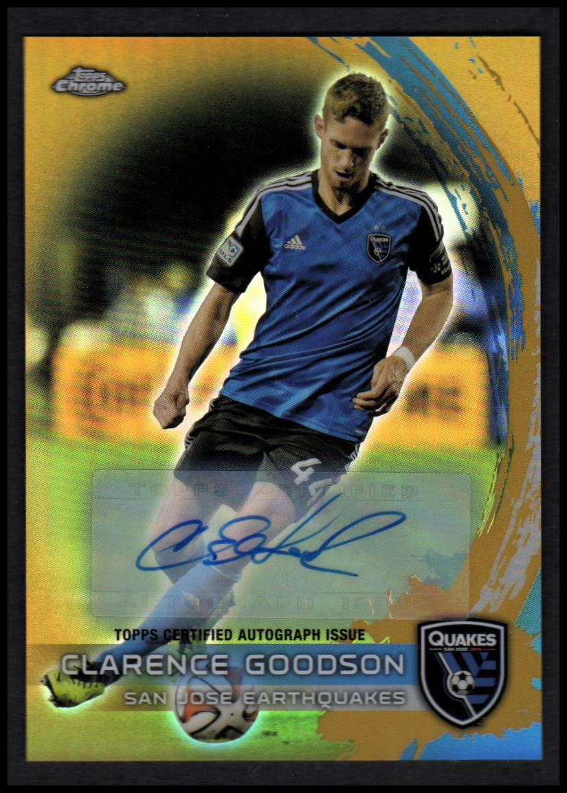 2014 Topps Chrome MLS Autographs Gold Refractors #72 Clarence Goodson