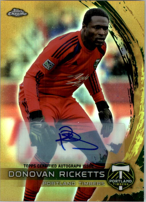 2014 Topps Chrome MLS Autographs Gold Refractors #35 Donovan Ricketts