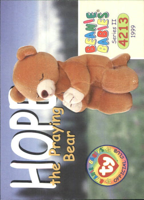 147d3f7ee06 1999 Beanie Babies Series II  181 Hope the Praying Bear - NM-MT
