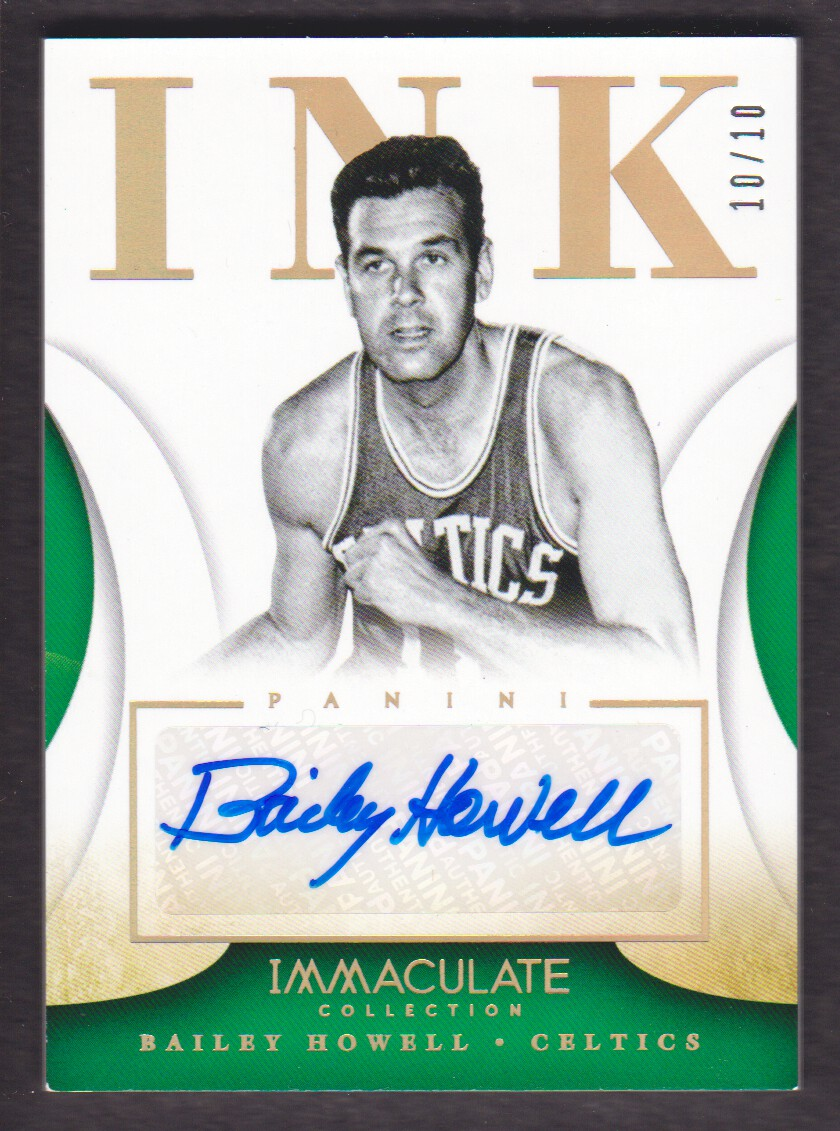 2013-14 Immaculate Collection Ink Gold #58 Bailey Howell