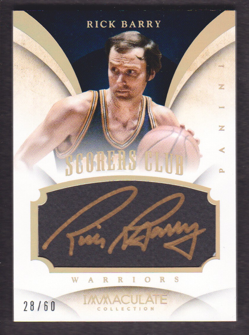 2013-14 Immaculate Collection Scorers Club Autographs #23 Rick Barry/60