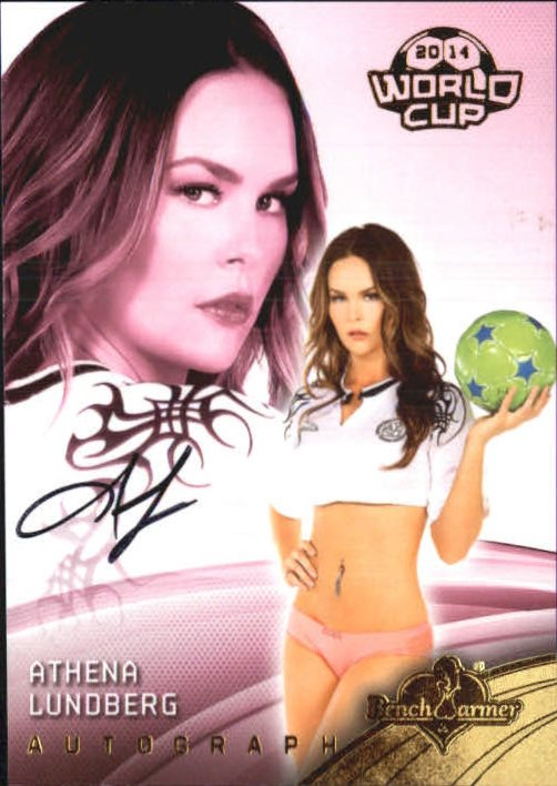 2014 Bench Warmer Soccer World Cup Autographs #39 Athena Lundberg