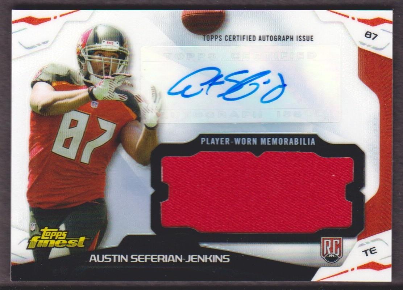 2014 Finest Jumbo Jersey Autographs Refractors #AJRASJ Austin Seferian-Jenkins