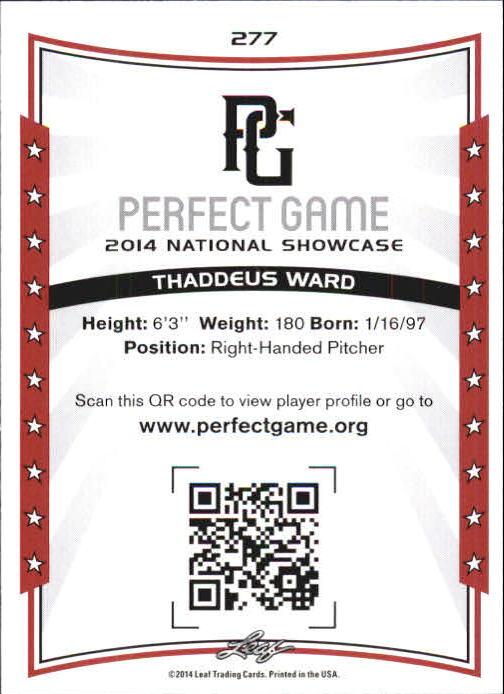 12 THADDEUS WARD Boston Red Sox 2014 Leaf *PERFECT GAME* Baseball Rookie RC LOT