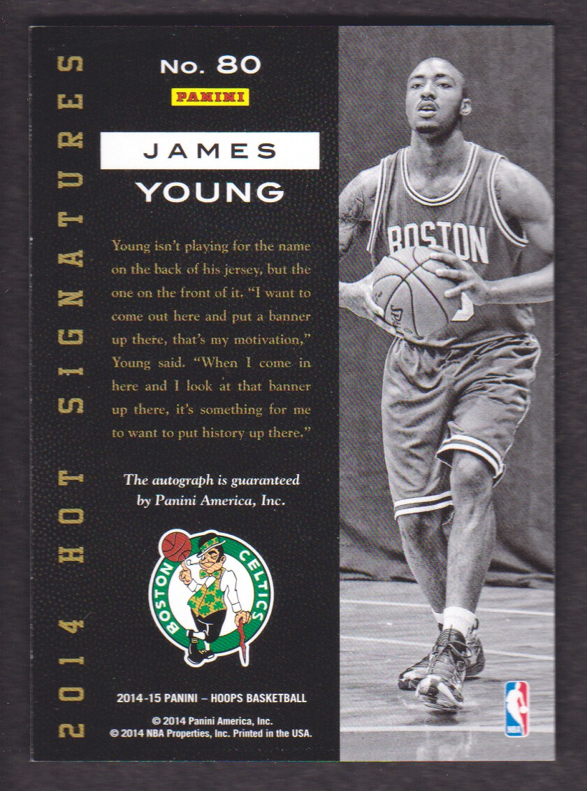 2014-15 Hoops Hot Signatures #80 James Young back image