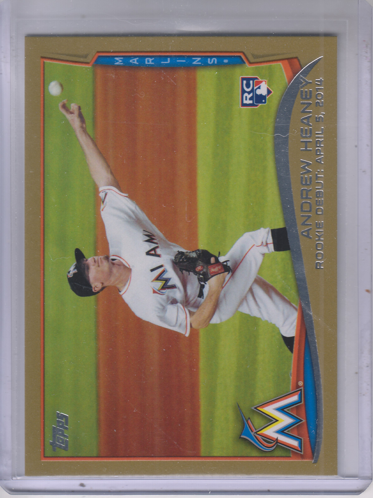 2014 Topps Update Gold #US13 Andrew Heaney