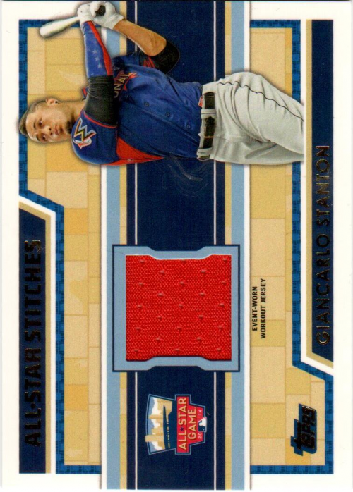 2014 Topps Update All Star Stitches #ASRGS Giancarlo Stanton