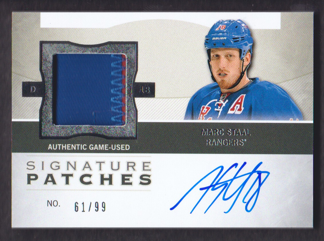 2012-13 The Cup Signature Patches #SPMS Marc Staal/99/(inserted in 13-14 The Cup)