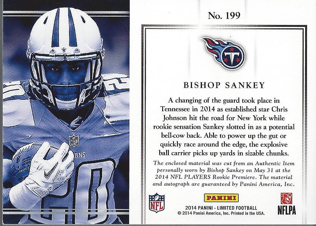 2014 Limited #199B Bishop Sankey JSY AU/99 RC back image