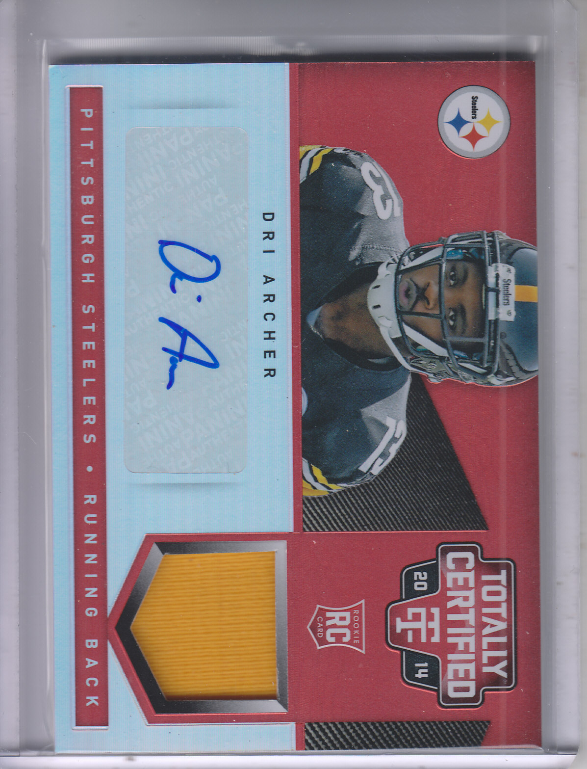 2014 Totally Certified Rookie Autograph Jerseys Mirror Red #193 Dri Archer