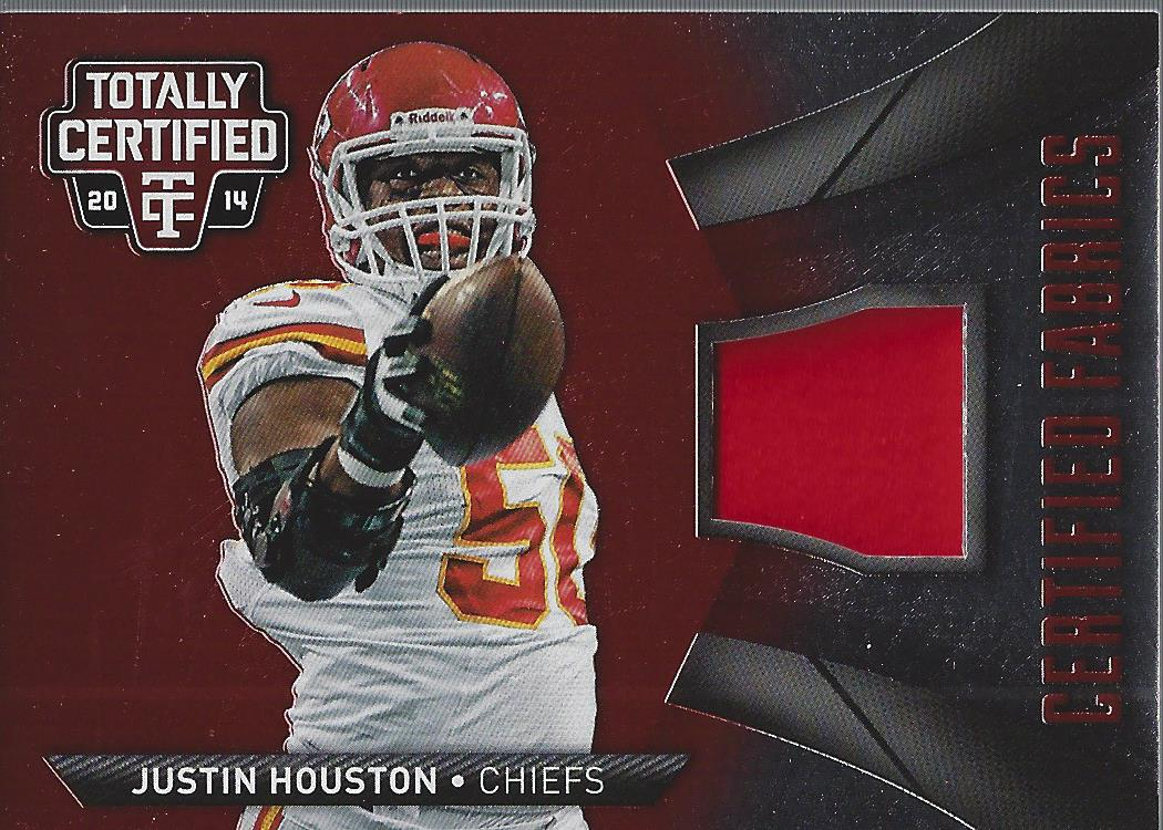best loved aff02 ddbbb Details about 2014 Totally Certified Certified Fabrics Red #CFJH Justin  Houston Jersey /100