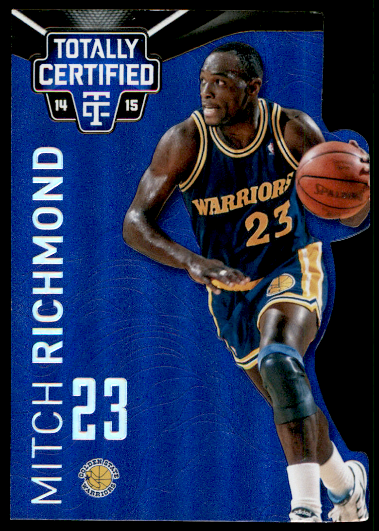 2014-15 Totally Certified Platinum Mirror Blue Die Cuts #117 Mitch Richmond
