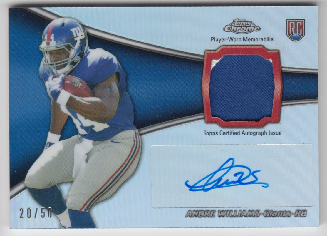 2014 Topps Chrome Rookie Autographs Patches #RAPAW Andre Williams