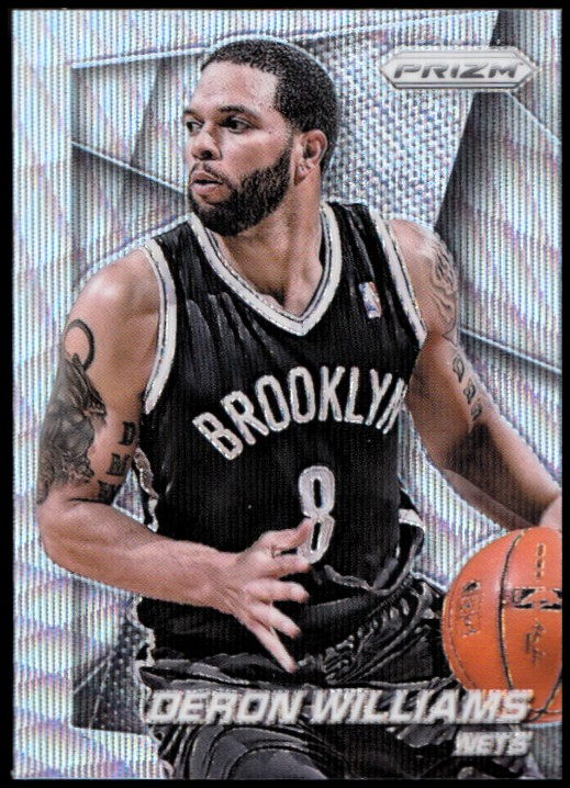 2014-15 Panini Prizm Prizms Blue Wave #81 Deron Williams