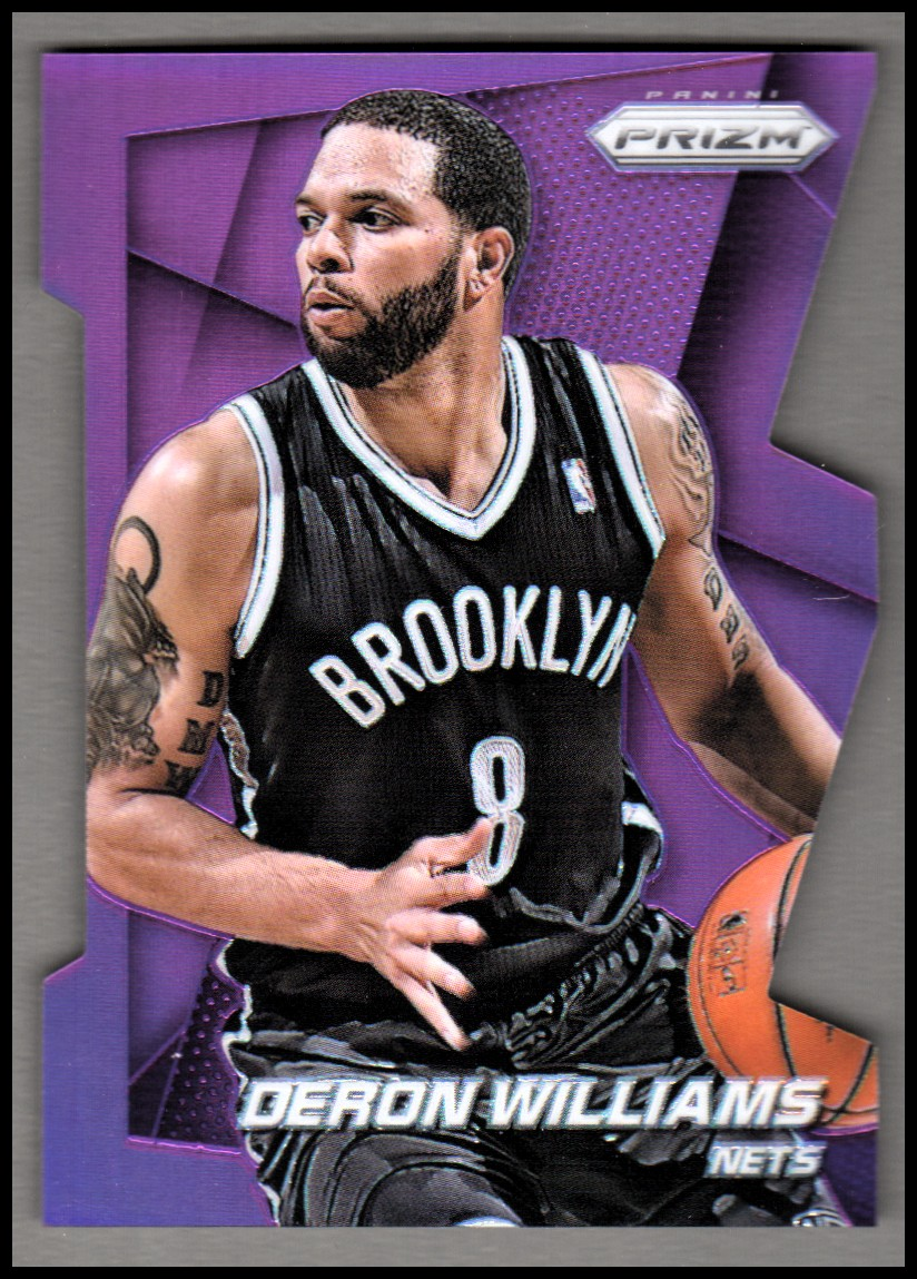 2014-15 Panini Prizm Prizms Purple Die Cut #81 Deron Williams
