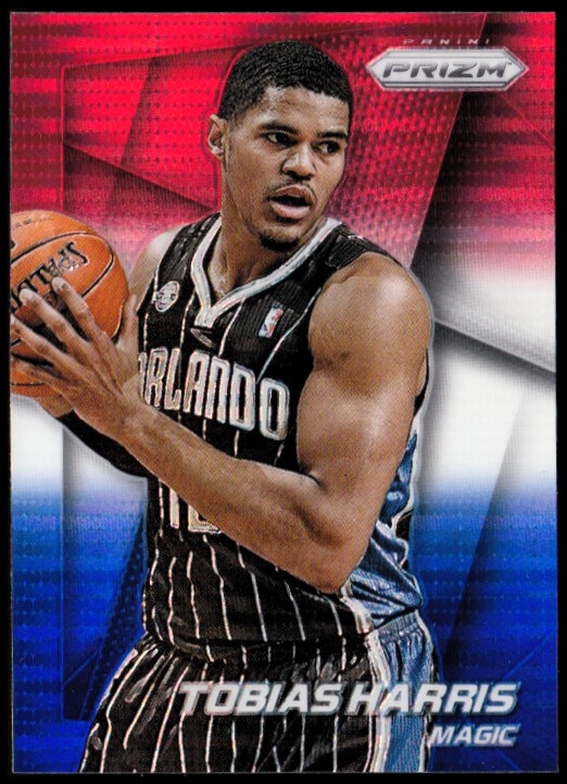 2014-15 Panini Prizm Prizms Red White and Blue Pulsar #54 Tobias Harris