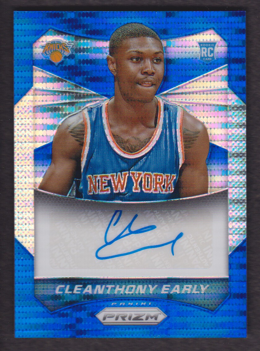2014-15 Panini Prizm Autographs Prizms Blue Pulsar #94 Cleanthony Early/249