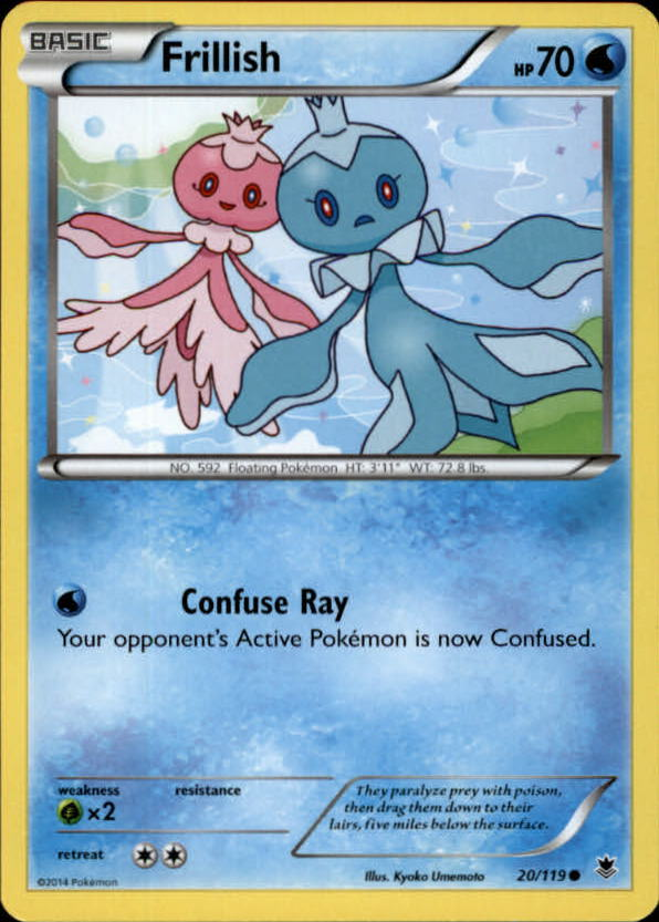 2014 Pokemon XY Phantom Forces #20 Frillish C