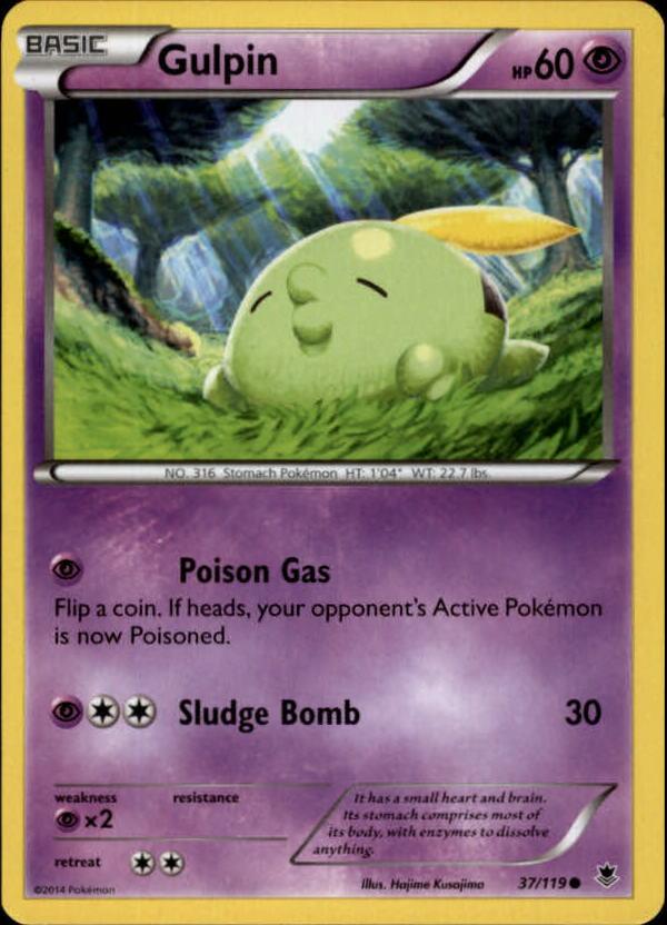 2014 Pokemon XY Phantom Forces #37 Gulpin C