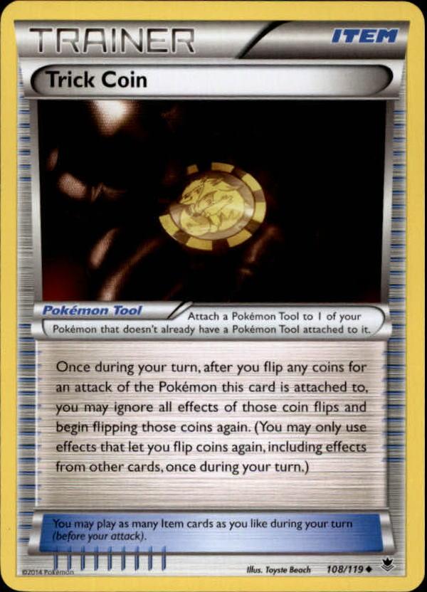 2014 Pokemon XY Phantom Forces #108 Trick Coin U