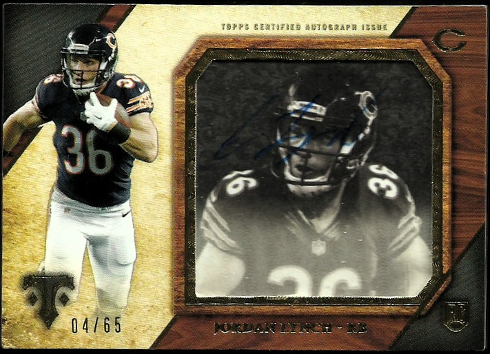 2014 Topps Triple Threads Transparencies Autographs #TTTJLY Jordan Lynch