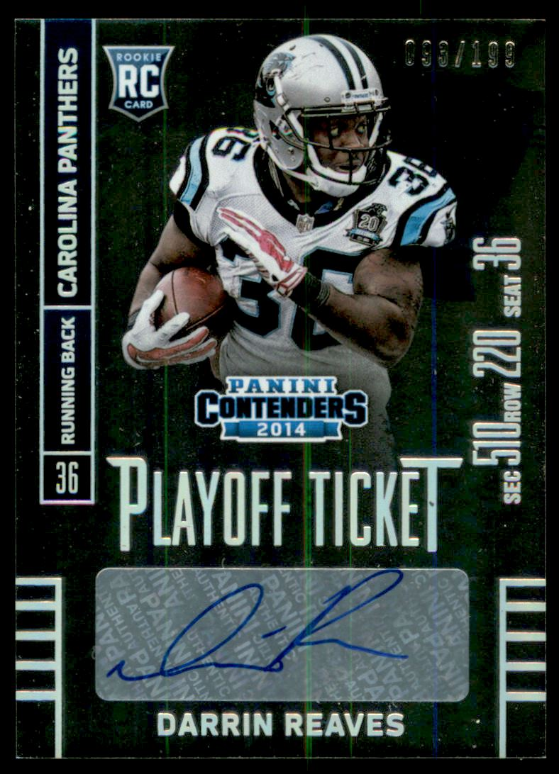 2014 Panini Contenders Playoff Ticket #152A Darrin Reaves AU