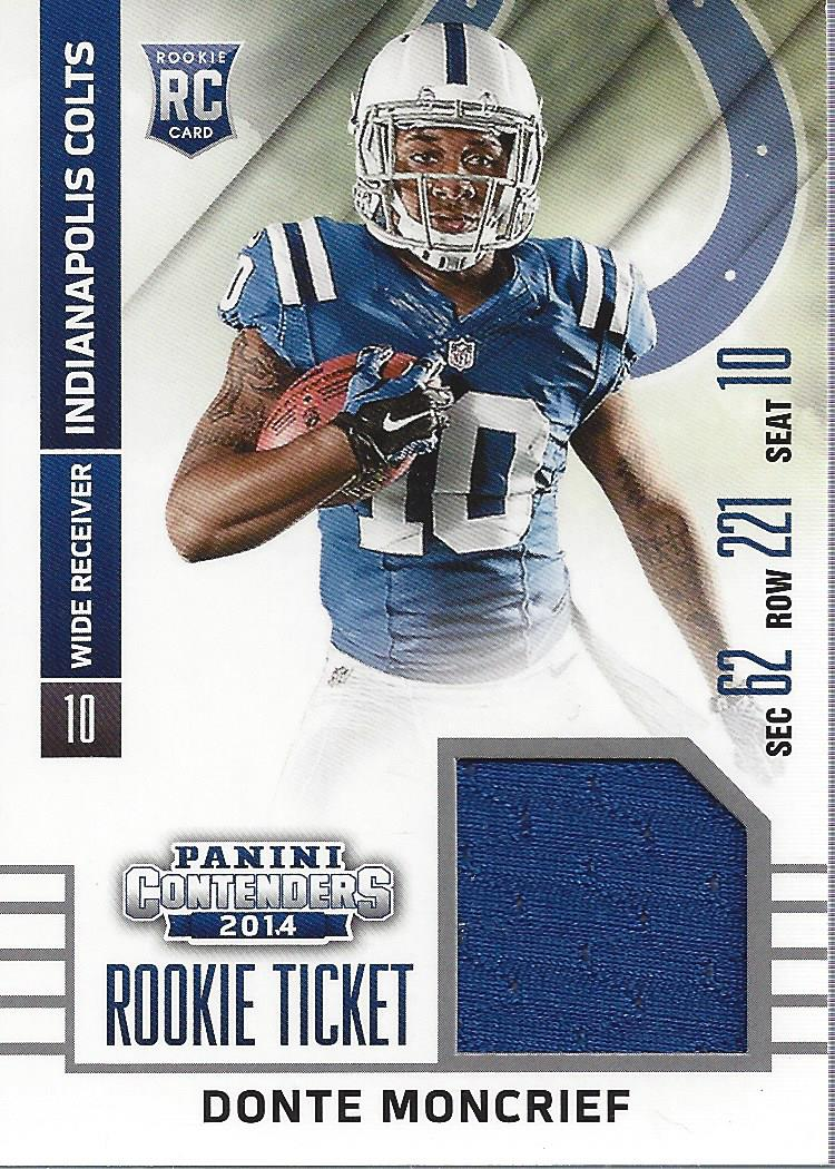 2014 Panini Contenders Rookie Ticket Jerseys #16 Donte Moncrief ...