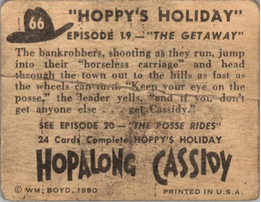 1950 Hopalong Cassidy Topps #66 The Gateaway back image