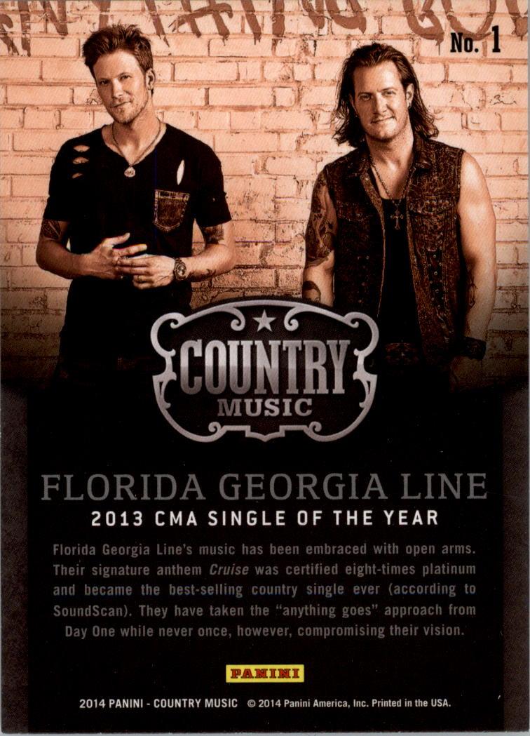 2015 Country Music Award Winners #1 Florida Georgia Line back image