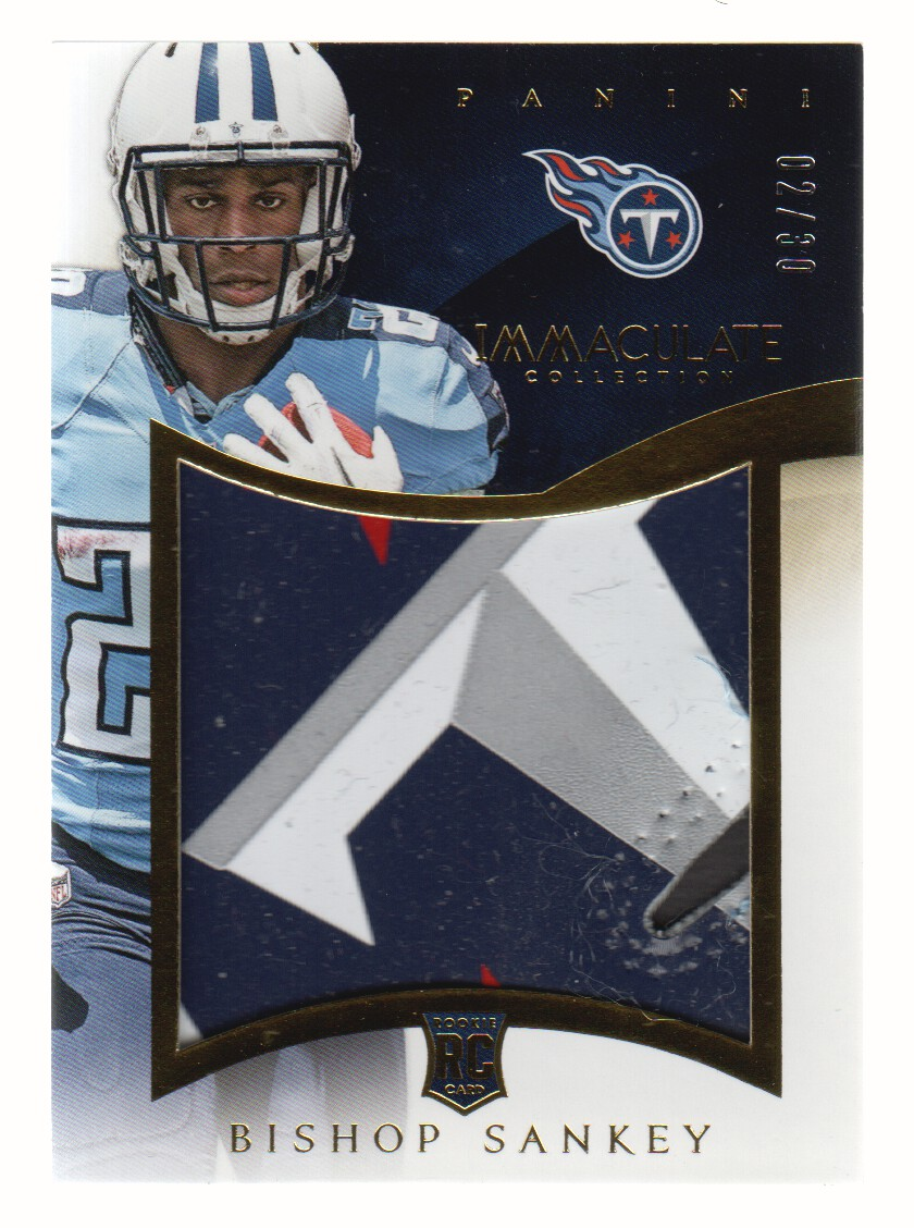 2014 Immaculate Collection Gloves Logos #IGBS Bishop Sankey/30