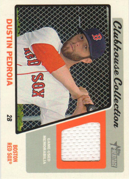 2015 Topps Heritage Clubhouse Collection Relics #CCRDP Dustin Pedroia