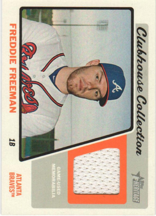 2015 Topps Heritage Clubhouse Collection Relics #CCRFF Freddie Freeman