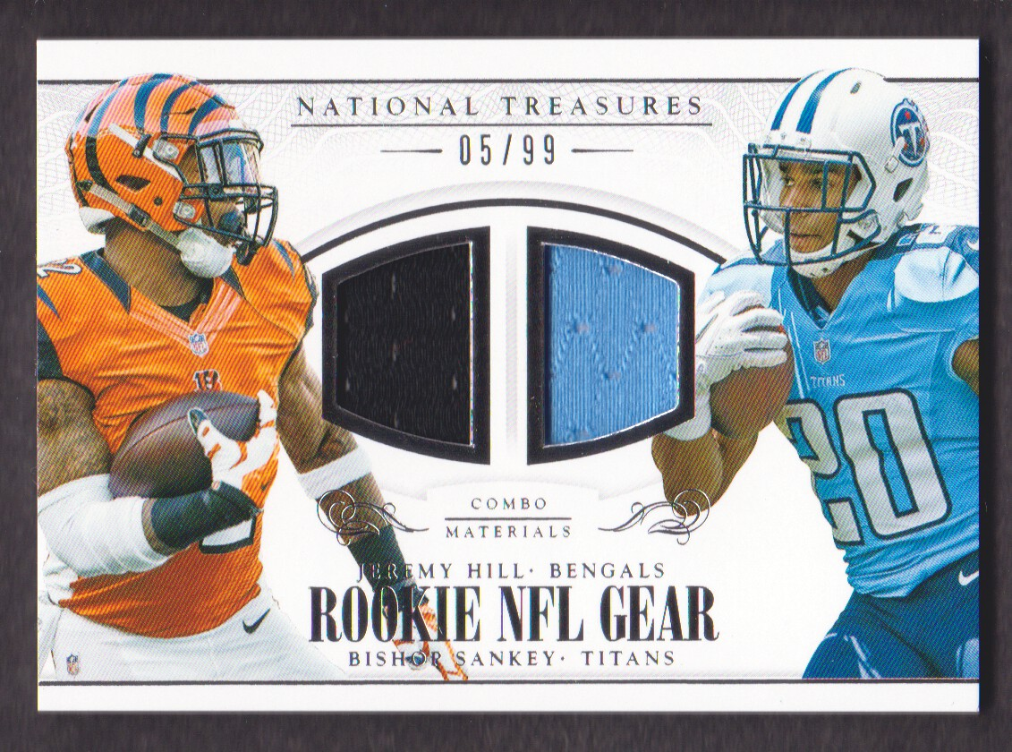 2014 Panini National Treasures Rookie NFL Gear Combo Player Materials #14 Bishop Sankey/Jeremy Hill