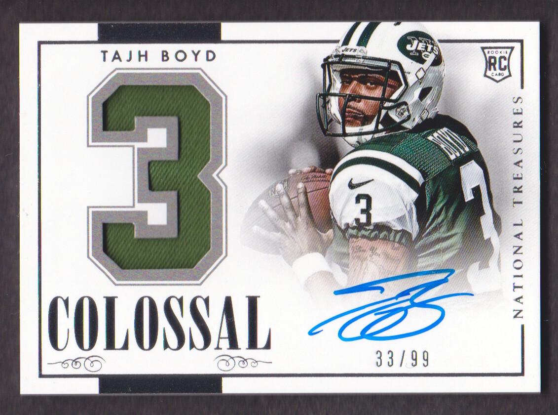 2014 Panini National Treasures Rookie Colossal Signature Materials Jersey Number #7 Tajh Boyd