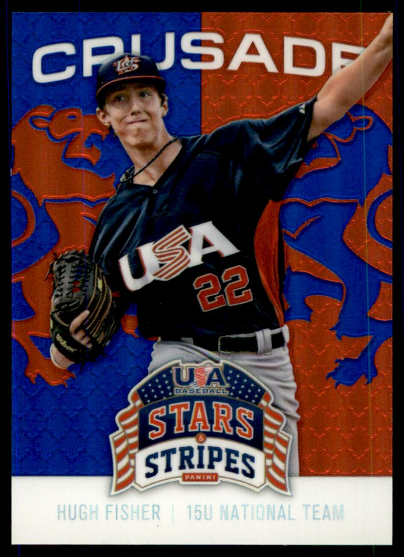 2015 USA Baseball Stars and Stripes Crusade Red and Blue #42 Hugh Fisher