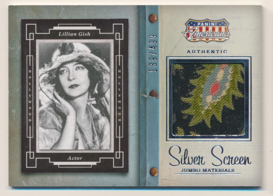 2011 AMERICANA LILLIAN GISH WORN RELIC CARD # //499