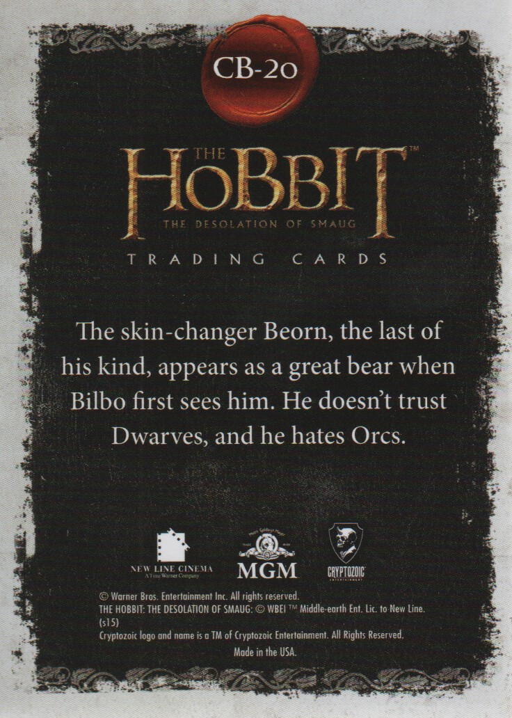 2015-The-Hobbit-Desolation-of-Smaug-Character-Biographies-Cards-Pick-From-List miniature 3